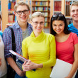 Company of students — Stock Photo