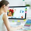 Designer at work — Stock Photo