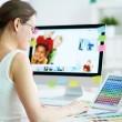 projektant w pracy — Zdjęcie stockowe