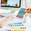working with colors — Stock Photo