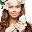 Spring goddess - Stock Photo