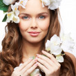 Spring goddess — Stock Photo