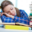 Tired to study — Stock Photo