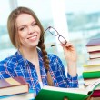 Stock Photo: Student with book