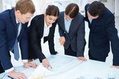 Ingenieurs op het werk — Stockfoto