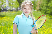 Youthful tennis player — Stock Photo