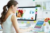 Designer på jobbet — Stockfoto
