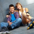 Teenage dates - Foto Stock