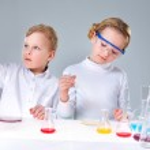 Keen chemists — Stock Photo