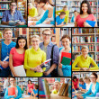 studenten in de bibliotheek — Stockfoto