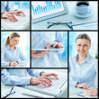Businesswoman at work — Stock Photo