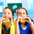 Lunch in school — Stock Photo