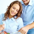 Cooking together — Stock Photo