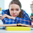 Frustrated student — Stock Photo