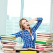 Learning till morning - Stock Photo
