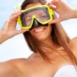 Woman with goggles — Stock Photo