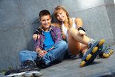 Date di adolescenti — Foto Stock