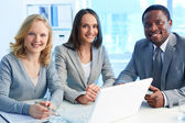 Team of employees — Stock Photo