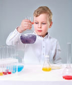 Young experimentalist — Stock Photo