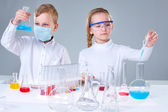 Young researchers — Stock Photo