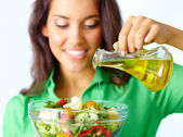 Making salad — Stock Photo
