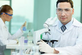 Experienced scientist — Stock Photo