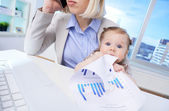 Business baby — Stock Photo