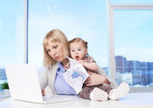 Busy mother — Stock Photo