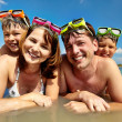 Family of divers — Stock Photo #25264699