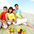 Family on resort — Stock Photo