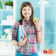 Smart schoolgirl — Stock Photo