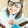 Funny pupil — Stock Photo