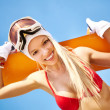 Summer snowboarder — Stock Photo
