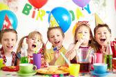 At birthday party — Stock Photo