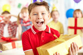 Birthday excitement — Stock Photo