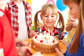 Birthday tradition — Stock Photo