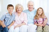 Seniors and youngsters — Stock Photo