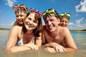 Familj av dykare — Stockfoto