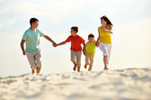 Carefree family — Stock Photo