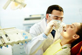 Checking up teeth — Stock Photo