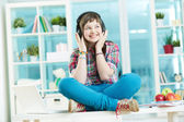 Teenage listener — Stock Photo