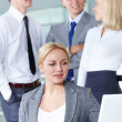 Female networking — Stock Photo