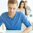 Student at lesson — Stock Photo