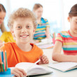 Smiling schoolkid — Stock Photo