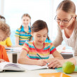Pupils at lesson — Stock Photo
