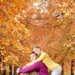 Love in fall — Stock Photo