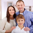 Boy with parents — Stock Photo