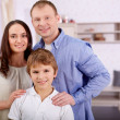 Boy with parents — Stock Photo #28274445