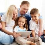 Modern family — Stock Photo