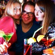 Girls and barman — Stock Photo #28274889